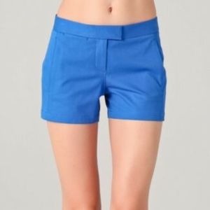 Theory Blue Noalda Stretch Shorts, Sz 6 NWT